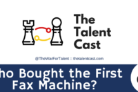 Who bought the first fax machine